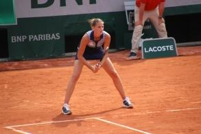 Karolina Pliskova sur la court Suzanne Lenglen